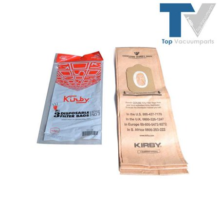 2 Upright Bags (Kirby Style 2 Heritage I Upright Vacuum Cleaner 3pk Paper Bags //)