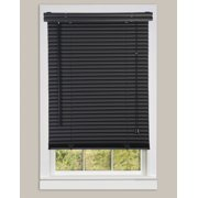 "Window Blinds Mini Blinds 1"" Slats Black Venetian Vinyl Blind"