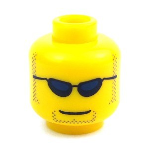 LEGO Minifigure Parts Sunglasses & Stubble Minifigure Head [Yellow] [No Packaging]
