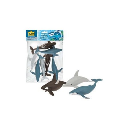 Whales & Dolphins Collection  - Play Animal Figure by Wild Republic (83783) (Wild Republic 5 Piece)