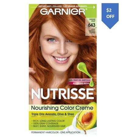 Garnier Nutrisse Nourishing Hair Color Creme (Reds), 643 Light Natural Copper, 1