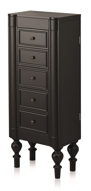 Costway Jewelry Cabinet Armoire Box Storage Chest Stand Organizer