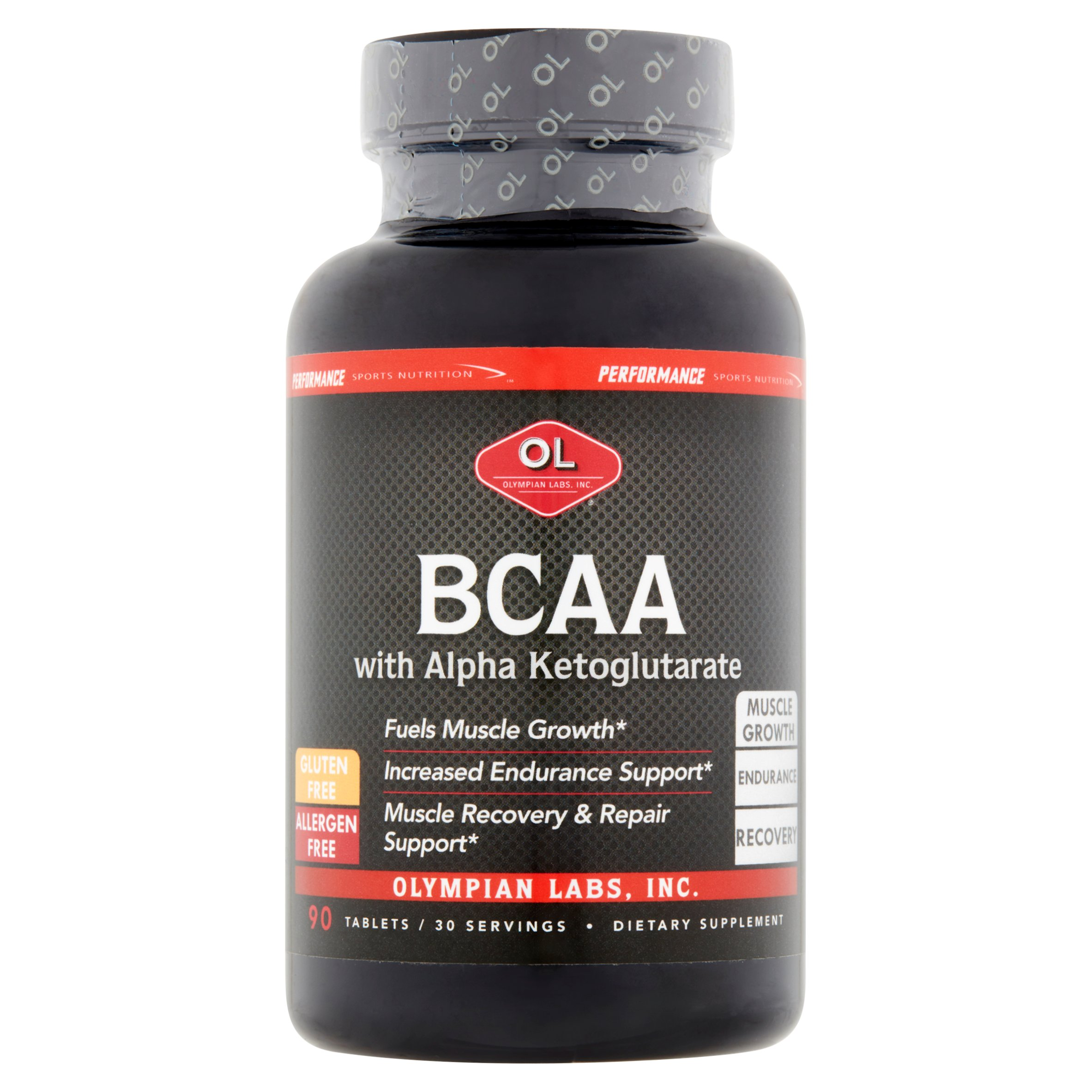 Olympian Labs BCAA with Alpha Ketoglutarate Tablets, 90 count