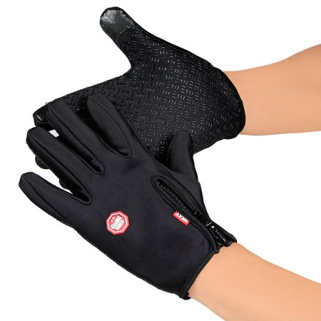 Unisex Ski Gloves Snowboard Gloves Motorcycling Touchscreen Winter Snow Windstopper Outdoor Riding Non-Waterproof Gloves - image 5 of 10