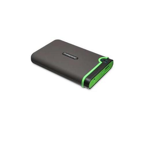 "Transcend TS500GSJ25M3 StoreJet 25M3 2.5"" USB 3.0 External Hard Drive - 500GB, Up to 5Gbps, Plug & Play, Shock Protecti"