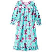 Trolls Girls' Granny Nightgown, Aqua Poppy, Size: 6