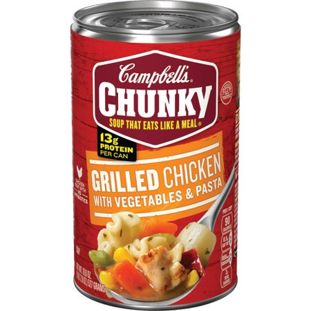 (2 Pack) Campbell's Chunky Grilled Chicken with Vegetables & Pasta Soup, 18.6