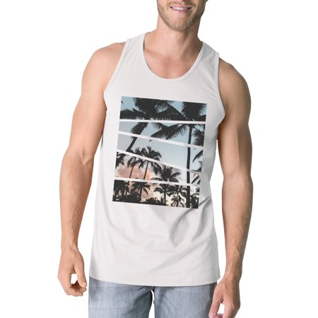365 Printing Palm Trees California Sunset Photography Mens Graphic Tanks Cotton