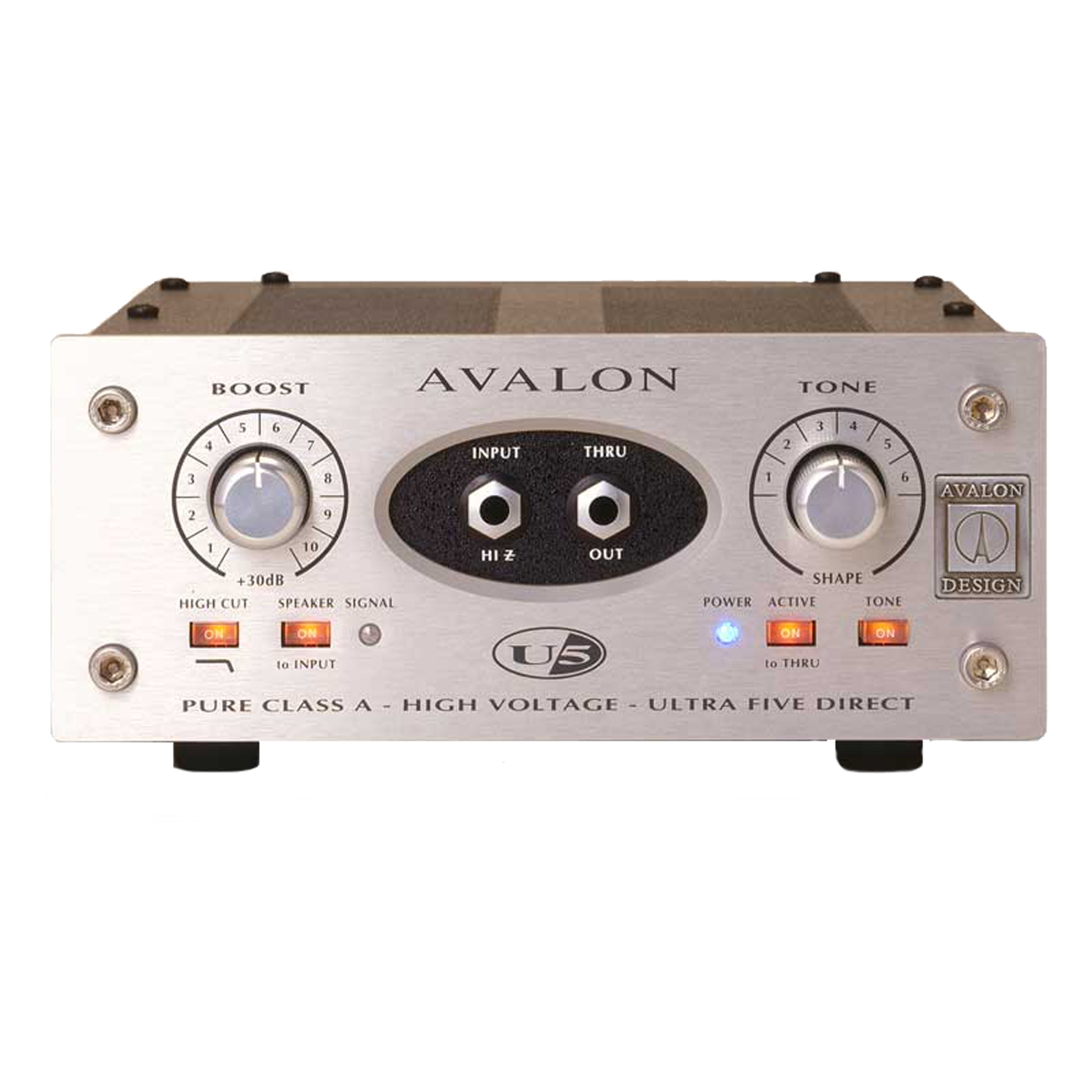 Avalon U5 Single-Channel High Voltage Instrument DI Preamp by Avalon