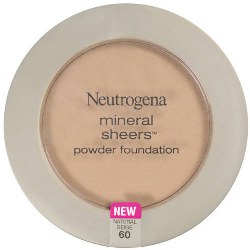 Neutrogena Mineral Sheers Powder Foundation, Natural Beige 60, 0.34 Oz