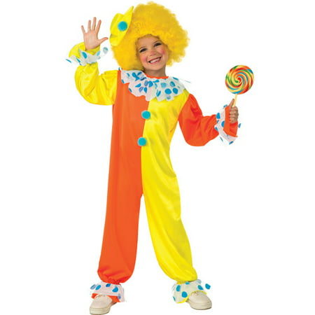 Neon Clown Girls Jumpsuit Halloween Costume