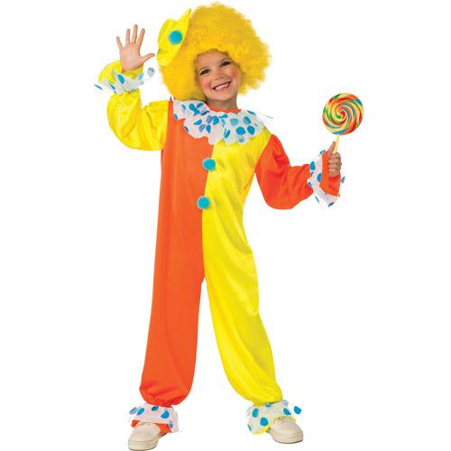 Neon Clown Girls Jumpsuit Halloween Costume