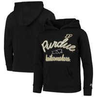 Girls Youth Russell Athletic Heathered Black Purdue Boilermakers Classic Fleece Pullover Hoodie