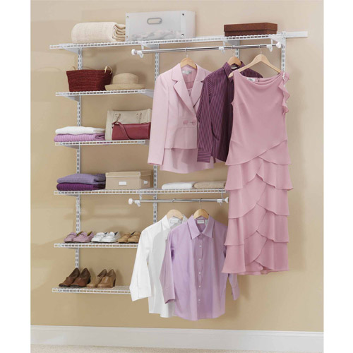 Rubbermaid Configurations Closet Kits, 3u0027 6u0027, Deluxe, ...