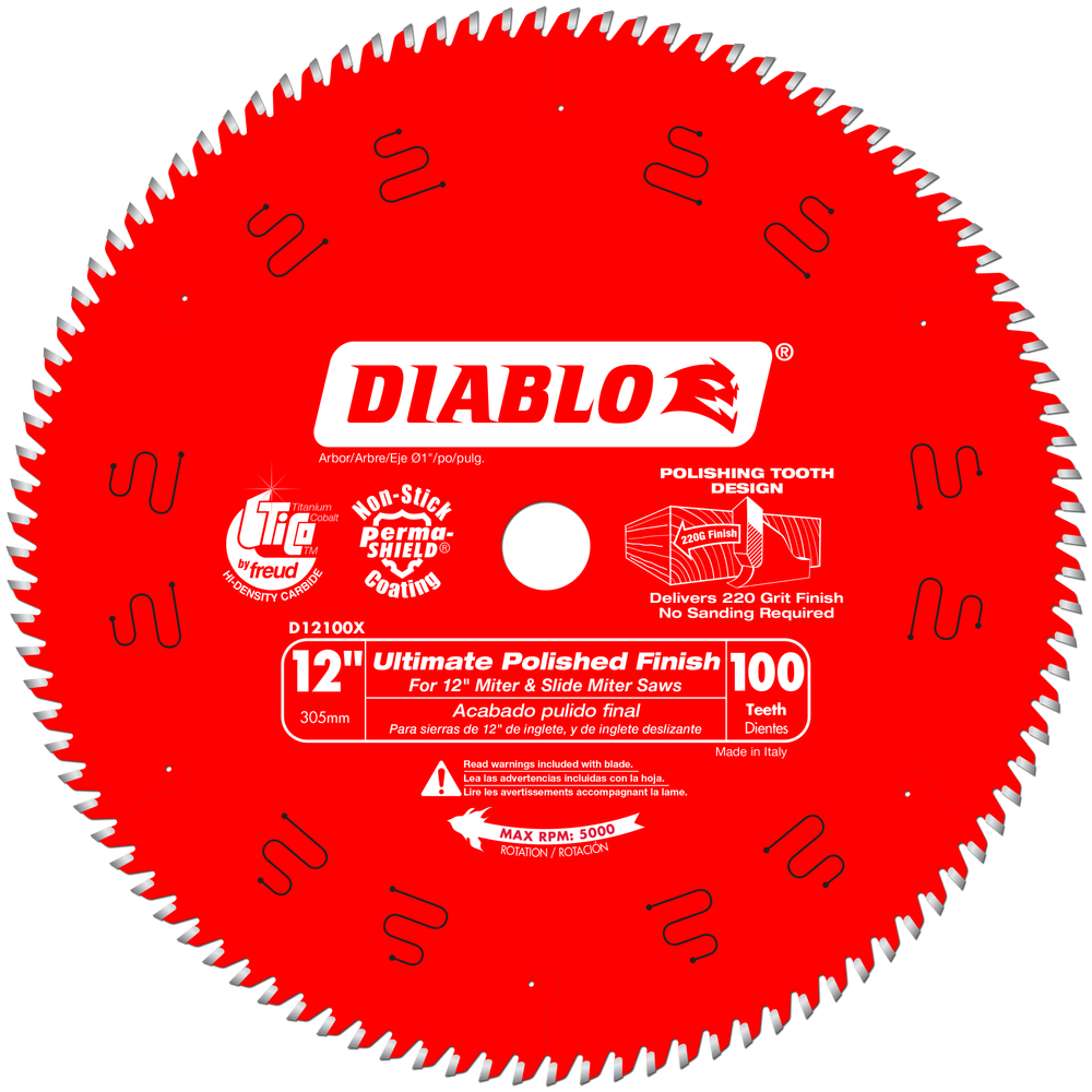"Diablo D12100X 12"" 100 TPI Fine Finish Circular Saw Blade by Freud Inc"