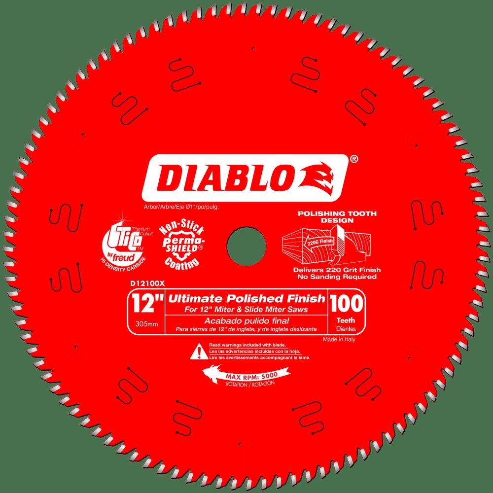 Diablo D12100X 12-Inch 100 Tpi Fine Finish Circular Saw Blade