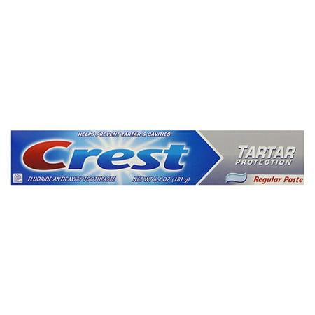 Crest Tartar Protection Tartar Control Toothpaste, Regular - 6.4 Oz, 6 Pack