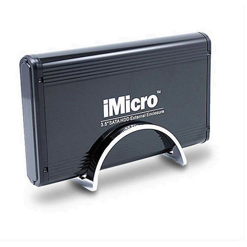 "iMicro 3.5"" USB 2.0 SATA External Drive Enclosure, Black"
