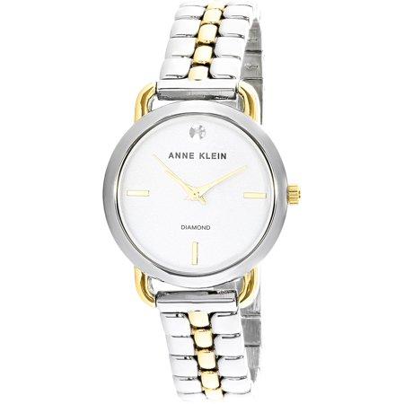 Anne Klein Tie - Anne Klein Women's AK-2795SVTT Silver Stainless-Steel Japanese Quartz Fashion Watch