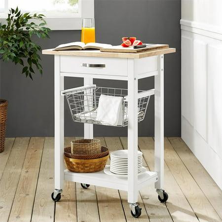 Mainstays Multifunction Kitchen Cart, White - Walmart.com