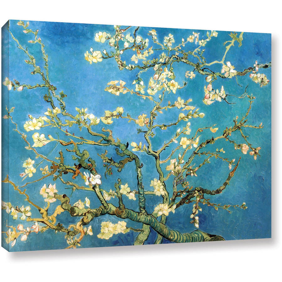 """ArtWall Vincent van Gogh """"Blossoming Almond Tree"""" Wrapped Canvas"""