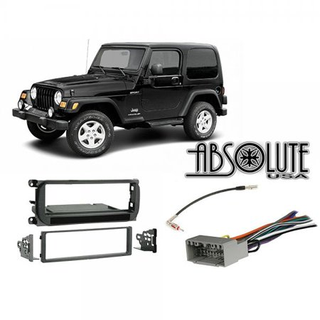 Radio Stereo Install Dash Kit + wire harness + antenna ... on mazda rx7 wiring harness, 2001 jeep wiring harness, geo tracker wiring harness, honda cr-v wiring harness, jeep wrangler wiring sleeve, jeep patriot wiring harness, chevy cobalt wiring harness, hummer h2 wiring harness, jeep grand wagoneer wiring harness, jeep wrangler trailer wiring, dodge dakota wiring harness, jeep wrangler wiring connector, jeep transmission wiring harness, 2004 jeep wiring harness, amc amx wiring harness, pontiac bonneville wiring harness, chrysler pacifica wiring harness, jeep tail light wiring harness, chevy aveo wiring harness, jeep wiring harness diagram,