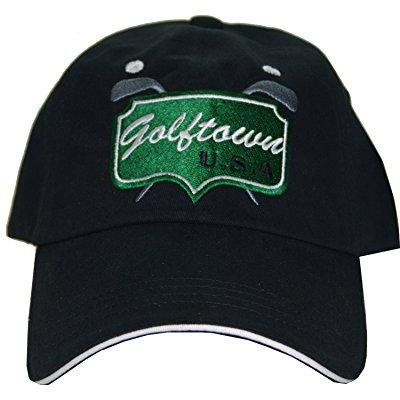 Harbor Town Golf - Intech Cap America Golf Town Adjustable Hat, Black