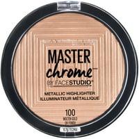 Maybelline Facestudio Master Chrome Metallic Highlighter Makeup, Molten Gold, 0.24 oz.