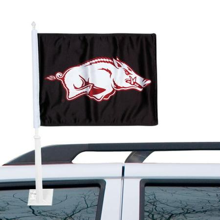 Arkansas Razorbacks Car Flag - Black - No Size