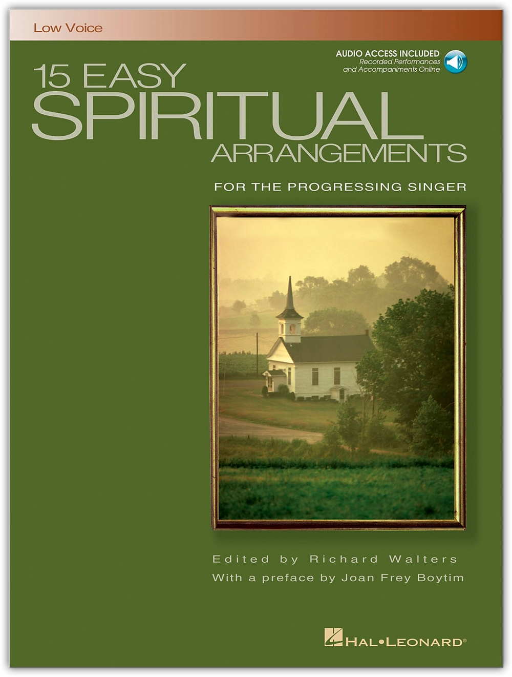 Hal Leonard 15 Easy Spiritual Arrangements for Low Voice Book Online Audio by