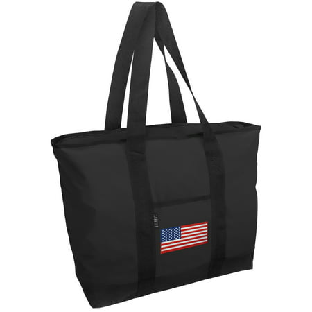 Flag Tote Bag - American Flag Tote Bag Deluxe USA Flag Tote Bags