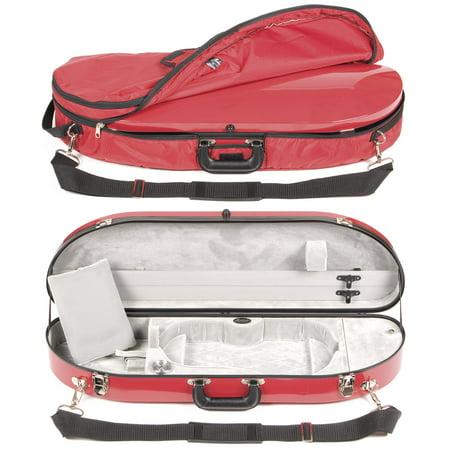 Bobelock 1047FV Red Fiberglass 4/4 Violin Case with Silver Velvet Interior and Protective Bag (Bobelock Fiberglass Violin Case)