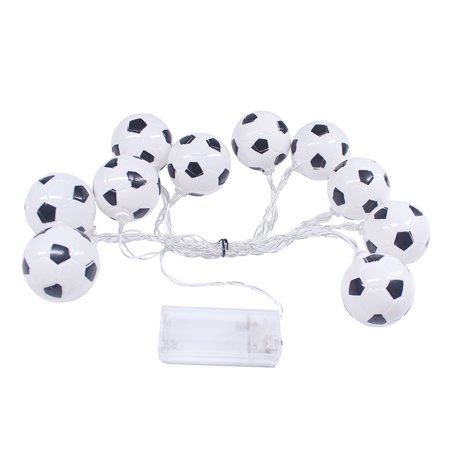 10 LED 2.13 Meters Soccer Football LED Strig Light Lamp Warm White 2 * AA Batteries Powered Operated for World Cup Theme Party Restaurant Home Decoration](Football Themed Events)