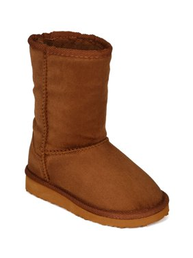 f43207ada8f53 Product Image Suede Round Toe Fur Shearing Flatform Eskimo Boot (Toddler  Little  Girl  Big Girl
