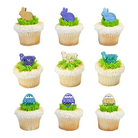 Easter Love Cupcake Rings 12 Count - Easter Cupcake