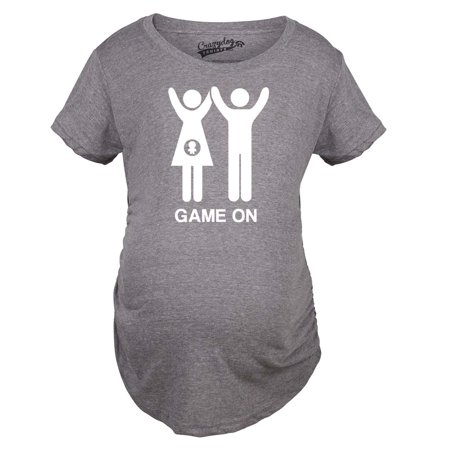 Maternity Game On Couple Tee Expecting Baby Bump Pregnancy Announcement T shirt - Gamer Babe Shirt