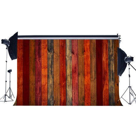 ABPHOTO Polyester 7x5ft Wood Backdrop Shabby Multicolor Painted Stripes Wooden Board Photography Background for Baby Shower Kids Adults Happy Birthday Party Decoration Wallpaper Photo Studio Props