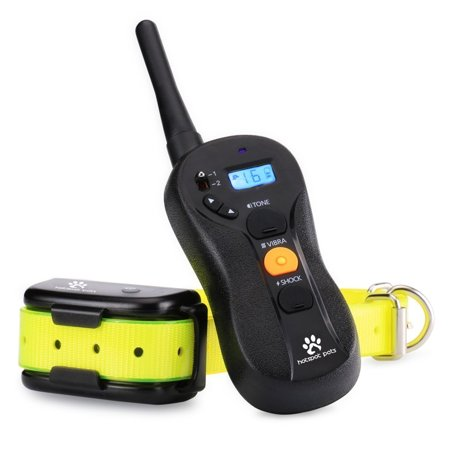 Best Dog Training Collar by Hot Spot - Waterproof & Rechargeable Shock Collar for Dogs With LCD Remote 3 Training Modes (Shock Vibration Tone) Long Range Ecollar (600