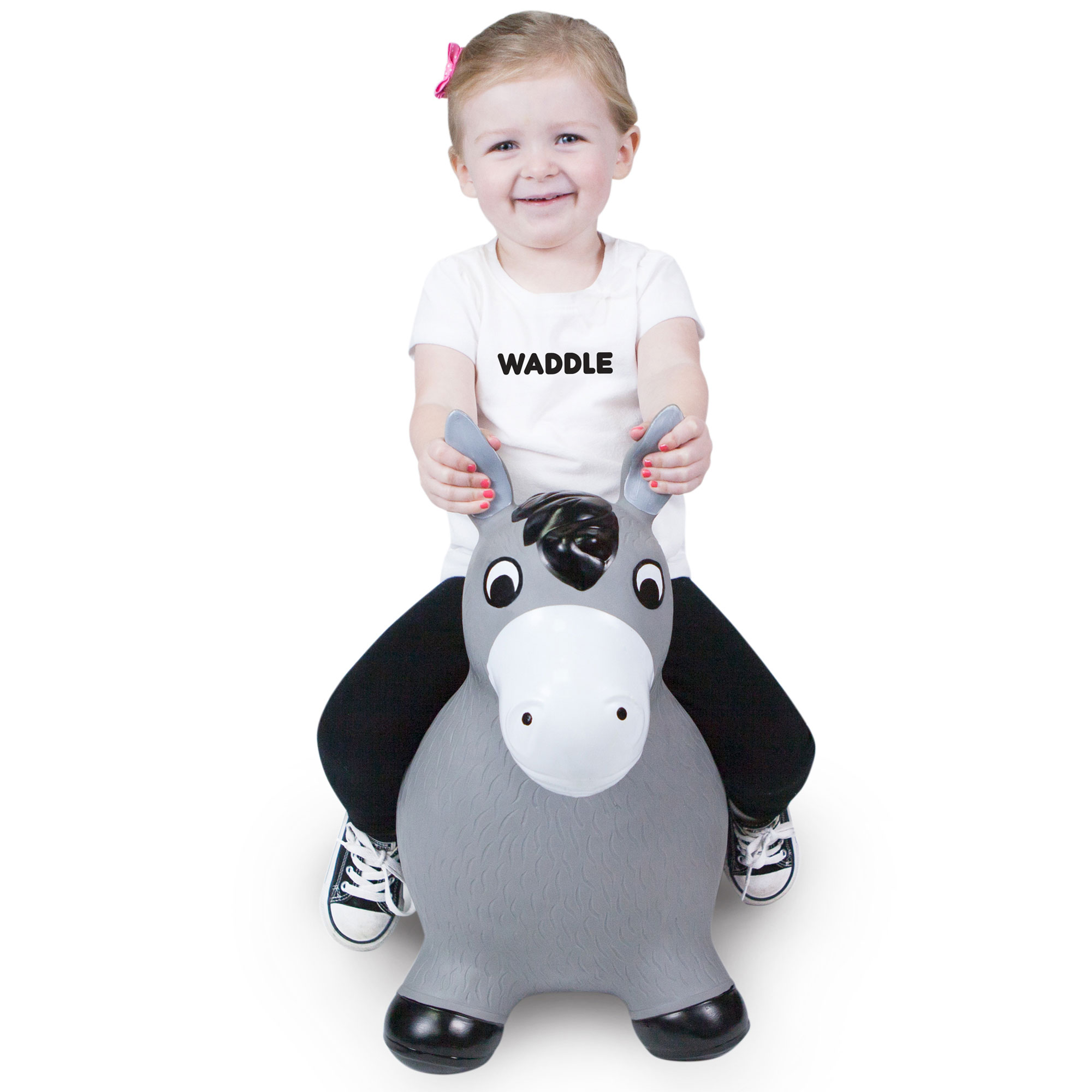 Waddle Ride On Toys for Kids | Best Bouncy Horse Hopper | Inflatable Farm Animal Ride-On... by WADDLE