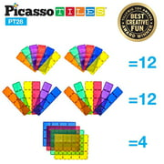 "PicassoTiles 28 Piece 12""x9"", 12""x3"", 9""x3"" Large Stabilizer Building Block PT28"