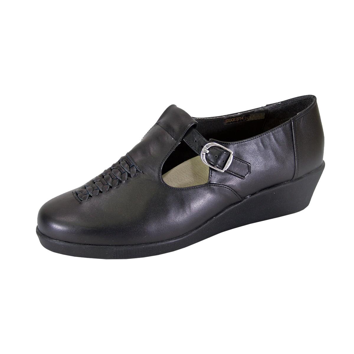 Strap Leather Shoes BLACK 8.5 - Walmart