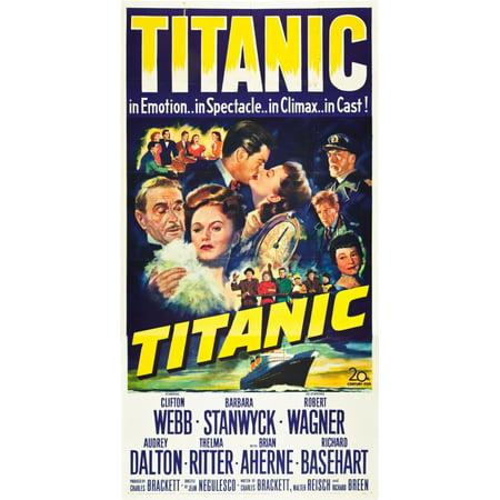 Titanic L-R Clifton Webb Barbara Stanwyck Robert Wagner Audrey Dalton  Richard Basehart Brian Aherne Thelma Ritter 1953 Tm And Copyright 20Th