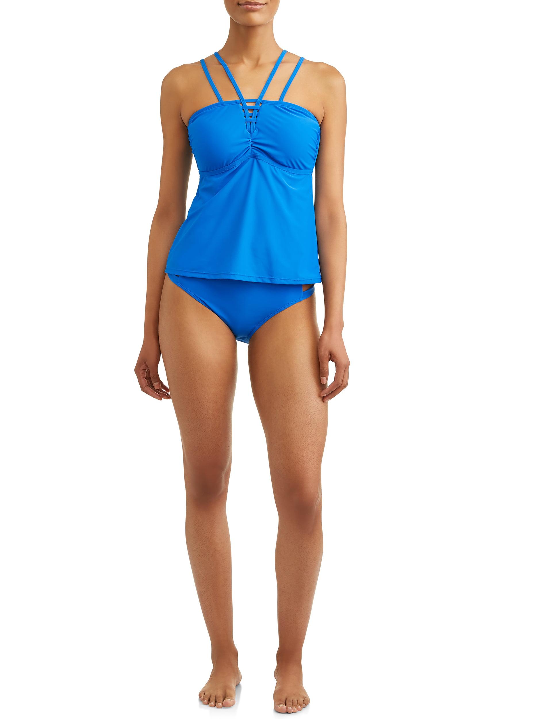 Pregnant One-Piece Swimwear Blue Plaid Blue,XL Wesraica Maternity Halter Bathing Suit Strappy Adjustable