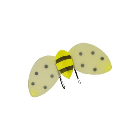 Wenchoice Girls Yellow Black Stripe Dot Play Role Accessory Bubble Bee Wings