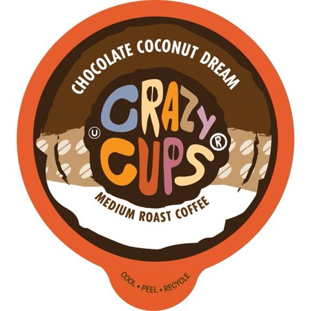 Crazy Cups Chocolate Coconut Dream Flavored Coffee Single Serve Cups, 22 count](Crazy Cups)
