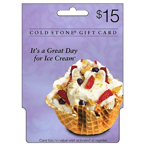 Coldstone Creamery $15 Gift Card