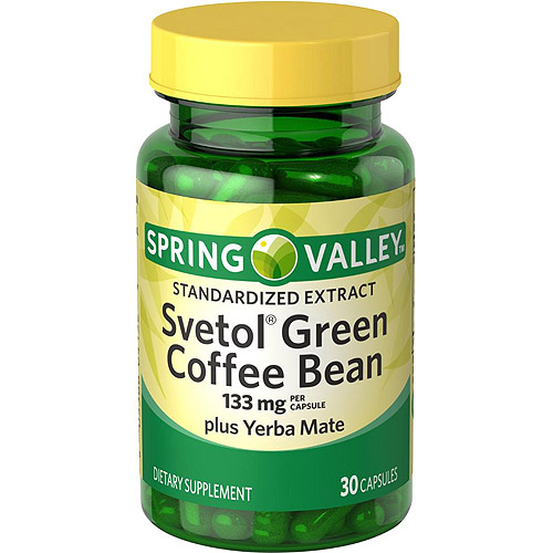 Spring Valley Svetol Green Coffee Bean plus Yerba Mate Capsules, 30 count