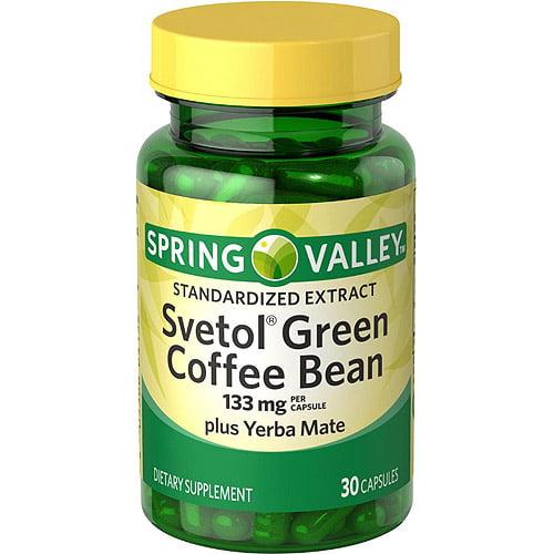 Spring Valley Svetol Green Coffee Bean plus Yerba Mate Capsules, 30 count
