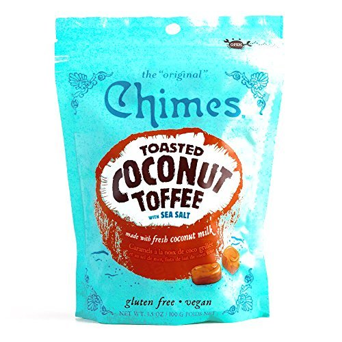 Chimes Toasted Coconut Toffee 3.5 oz each (4 Items Per Order) by
