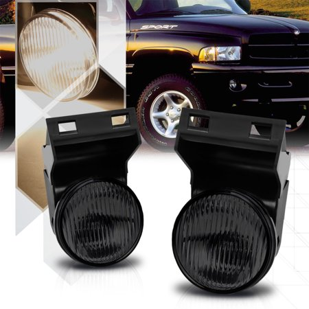Smoke Tinted Lens Replacement Fog Light Lamps For 94 02 Dodge Ram 1500 2500 3500 95 96 97 98 99 00 01